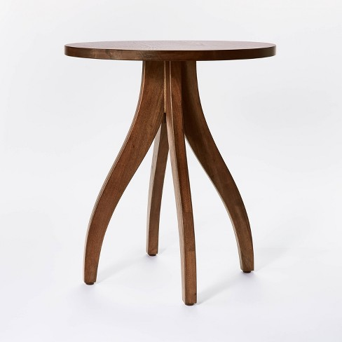 Surfside Round Wood Accent Table with Curved Legs - Threshold™ designed with Studio McGee - image 1 of 4