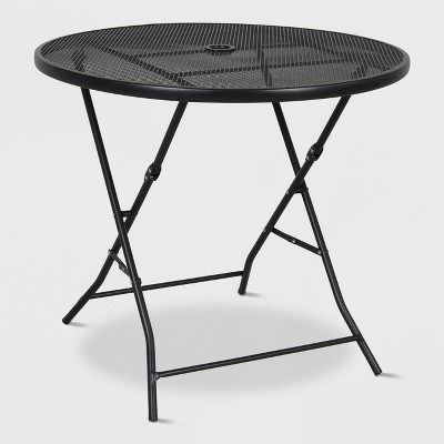 "32"" Metal Mesh Folding Patio Table - Threshold™"