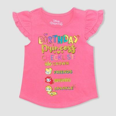 Toddler Girls' Disney Princess Birthday T-Shirt - Pink