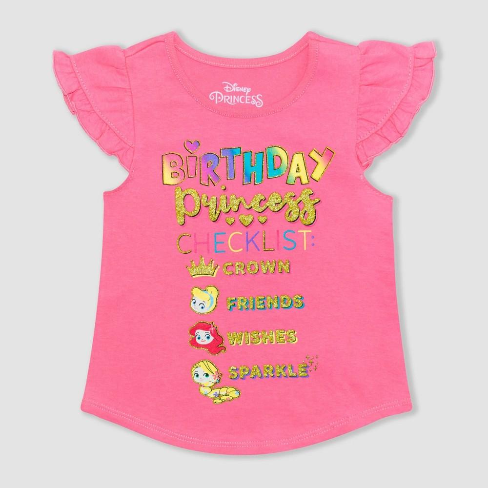 Toddler Girls 39 Disney Princess Birthday Graphic T Shirt Pink 3t