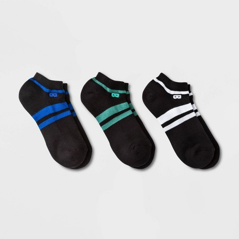 Pair of Thieves Men's 3pk Cushion Low Cut Casual Socks - Blue/Green/White 8-12 - image 1 of 4
