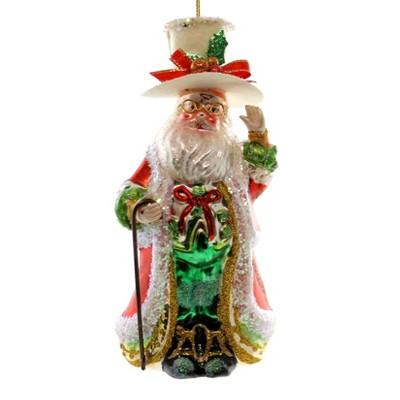 Holiday Ornaments Dinner Santa Ornament Christmas Top Hat Cane  -  Tree Ornaments