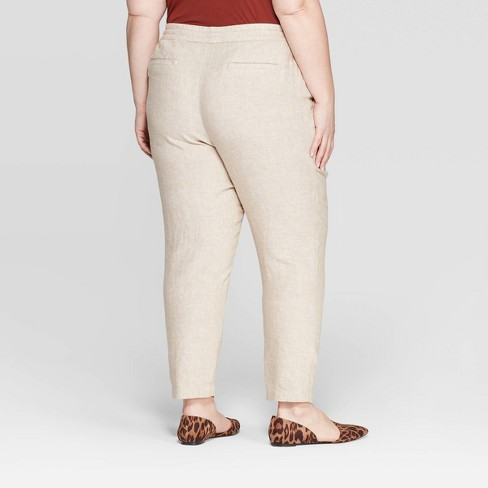 f35cde4833f Women s Plus Size Soft Trouser Pants - Ava   Viv™   Target