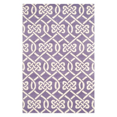 Violet Geometric Tufted Accent Rug - Safavieh