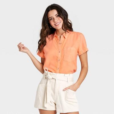 Women's Short Sleeve Denim Shirt - Universal Thread™