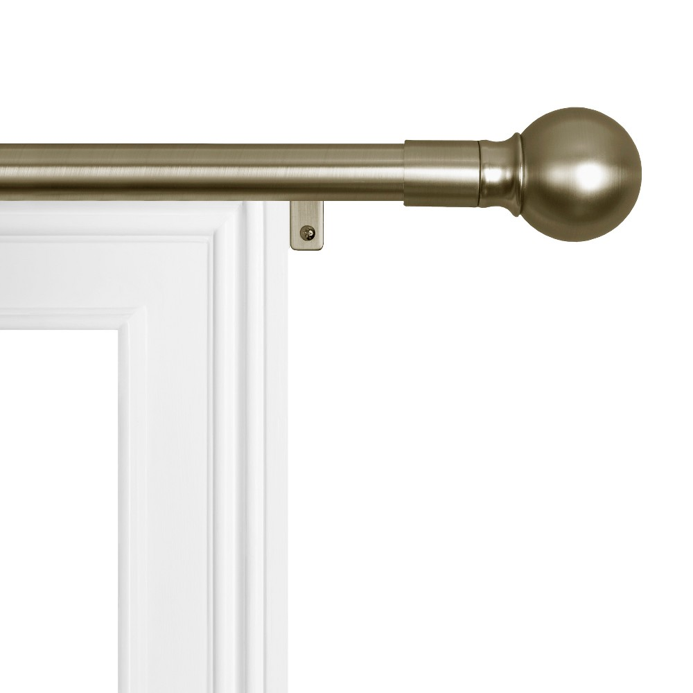 "Image of ""18""""x48"""" Easy Install Drapery Window Rod Antique Brass - Smart Rods"""