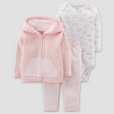 Baby Girls' Polka Dot 3pc Set - Just One You® made by carter's Light Pink 3M