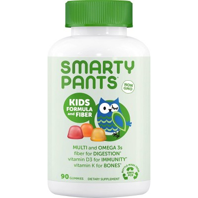SmartyPants Kids Formula and Fiber Gummies - Lemon, Orange & Strawberry Banana - 90ct
