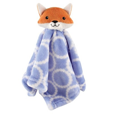 Hudson Baby Unisex Baby Animal Face Security Blanket - Blue Fox One Size