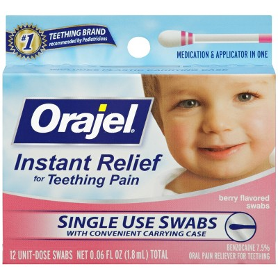 Orajel Teething Swabs- 12pk