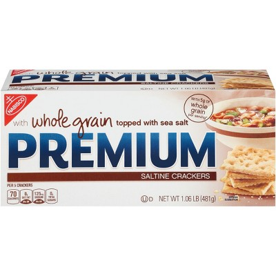 Crackers: Premium Whole Grain Saltine Crackers