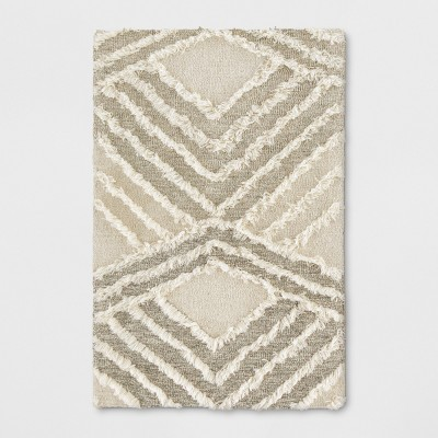 2'X3' Geometric Tufted Accent Rugs Light Off-White - Project 62™