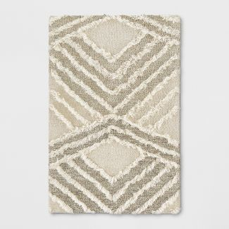 2'X3' Moroccan Shag Tufted Accent Rug Cream - Project 62™