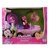 """Jada Toys Disney Junior RC Minnie Bowtique Roadster Remote Control Vehicle 7"""" Pink with White Polka Dots - image 2 of 4"""