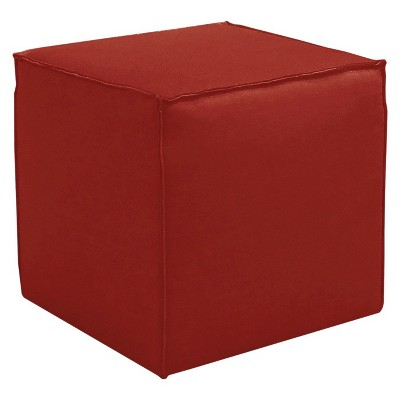 Custom Upholstered Square Ottoman with French Seams - Skyline Furniture