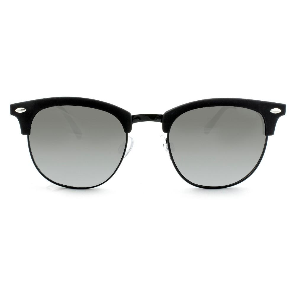 Men's Clubmaster Sunglasses - Goodfellow & Co Matte Black, Size: Large