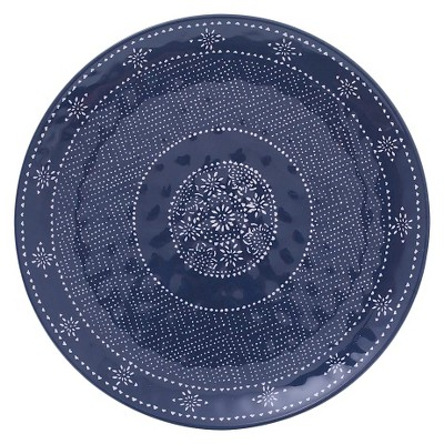 Medallion 14in Melamine Round Serve Platter Navy - Threshold™