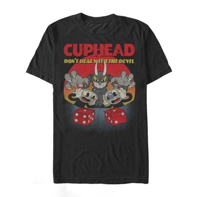 Men's Cuphead Don't Deal Snake Eyes T-Shirt