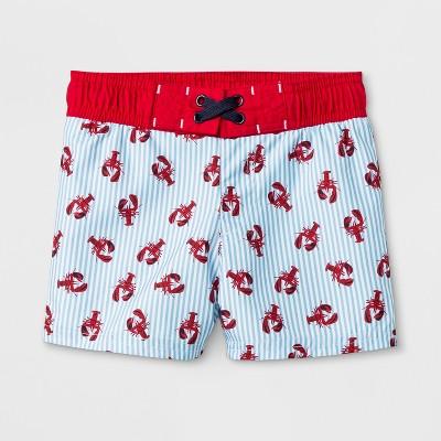 Baby Boys' Lobster Print Swim Trunks - Cat & Jack™ Blue 12M