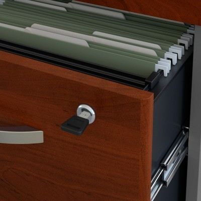 Series C 3 Drawer File Cabinet Hansen Cherry - Bush Furniture, Brown