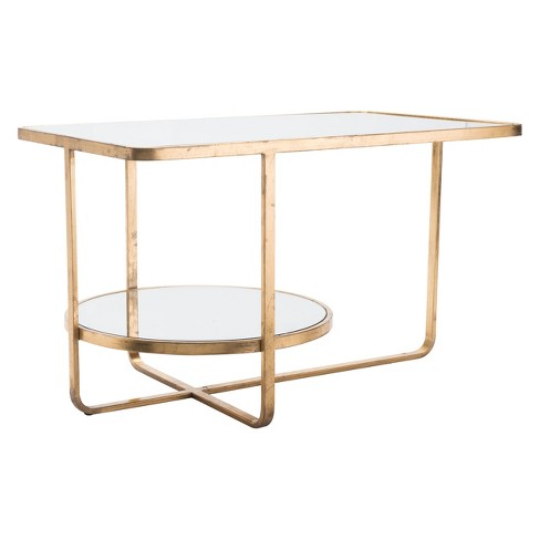 """30"""" Modern Mirror and Steel Coffee Table - Gold - ZM Home - image 1 of 1"""