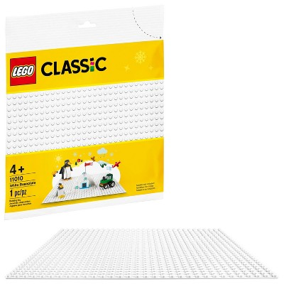 LEGO Classic White Baseplate Creative Toy for Kids 11010
