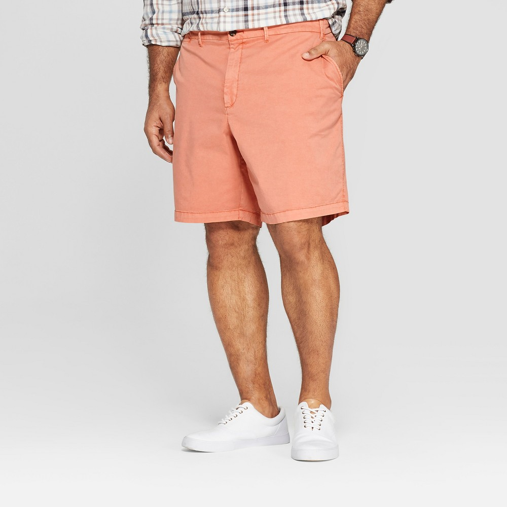 Best Review Men Big Tall 9 Chino Shorts Goodfellow Co Bengal Ginger 60