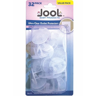 Jool Baby Outlet Plug Covers Clear Child Proof Electrical Protection Safety Caps - 32pk