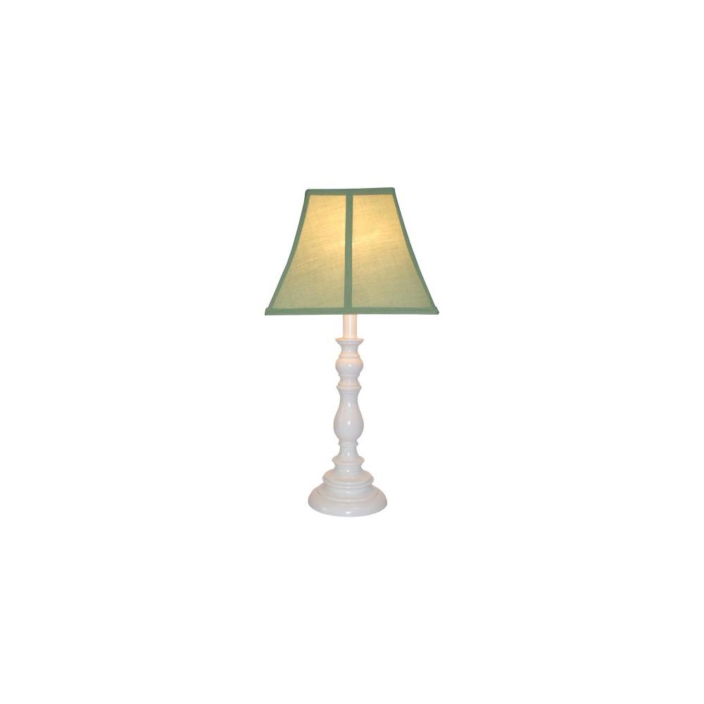 Image of White Resin Table Lamp - Sage