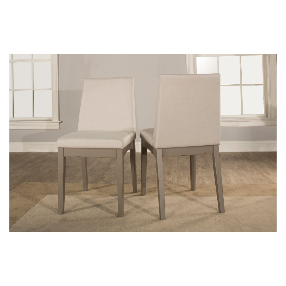 Clarion Upholstered Dining Chair Set of 2 Distressed Gray - Hillsdale Furniture