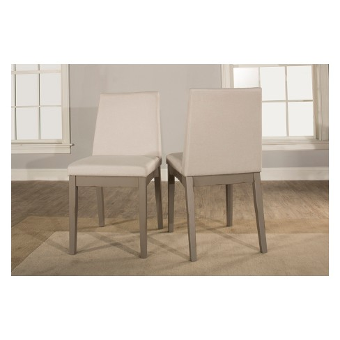 Clarion Upholstered Dining Chair Set of 2 Distressed Gray - Hillsdale Furniture - image 1 of 4