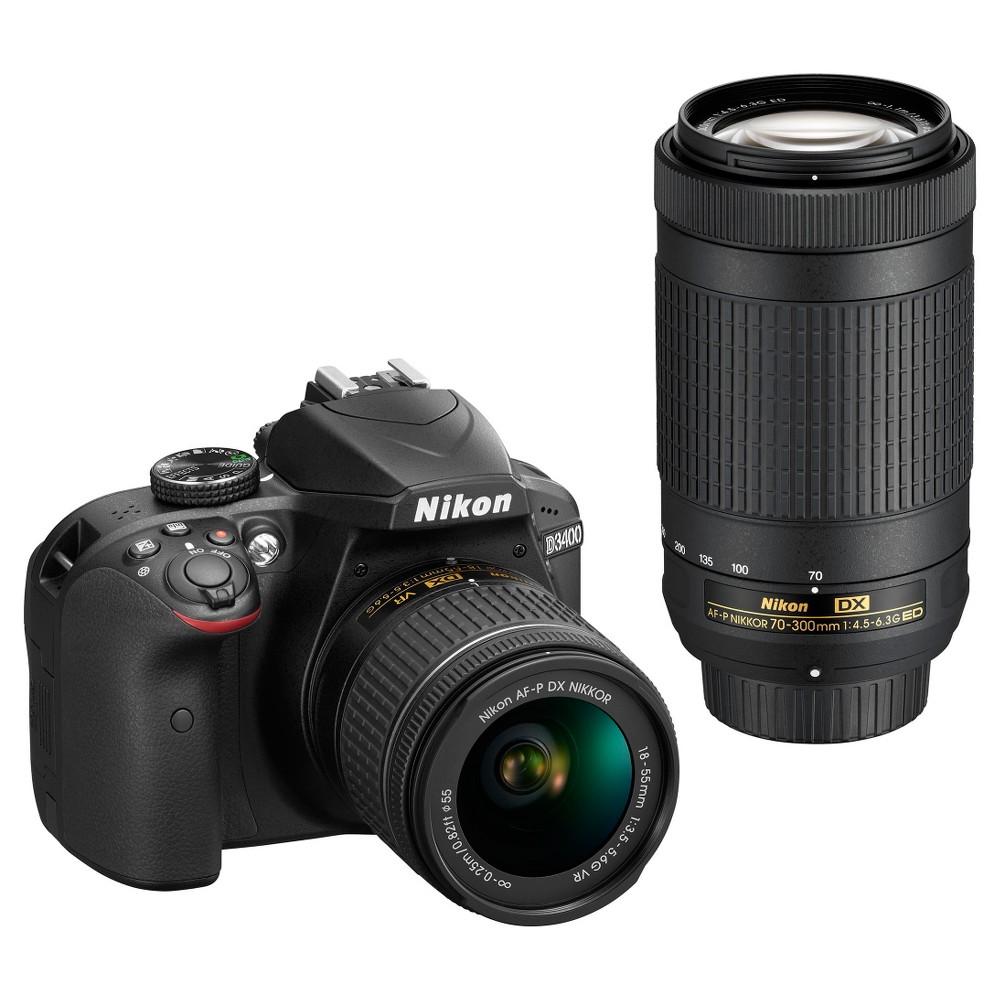 Nikon Dslr D3400 Camera 2-Lens Kit Black
