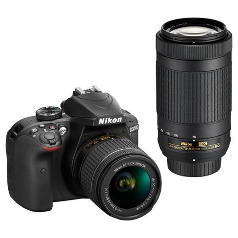 Nikon DSLR D3400 Camera 2-Lens Kit Black - image 1 of 4