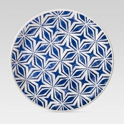 Plastic Geometric Dinner Plate 10.4  Blue - Threshold™