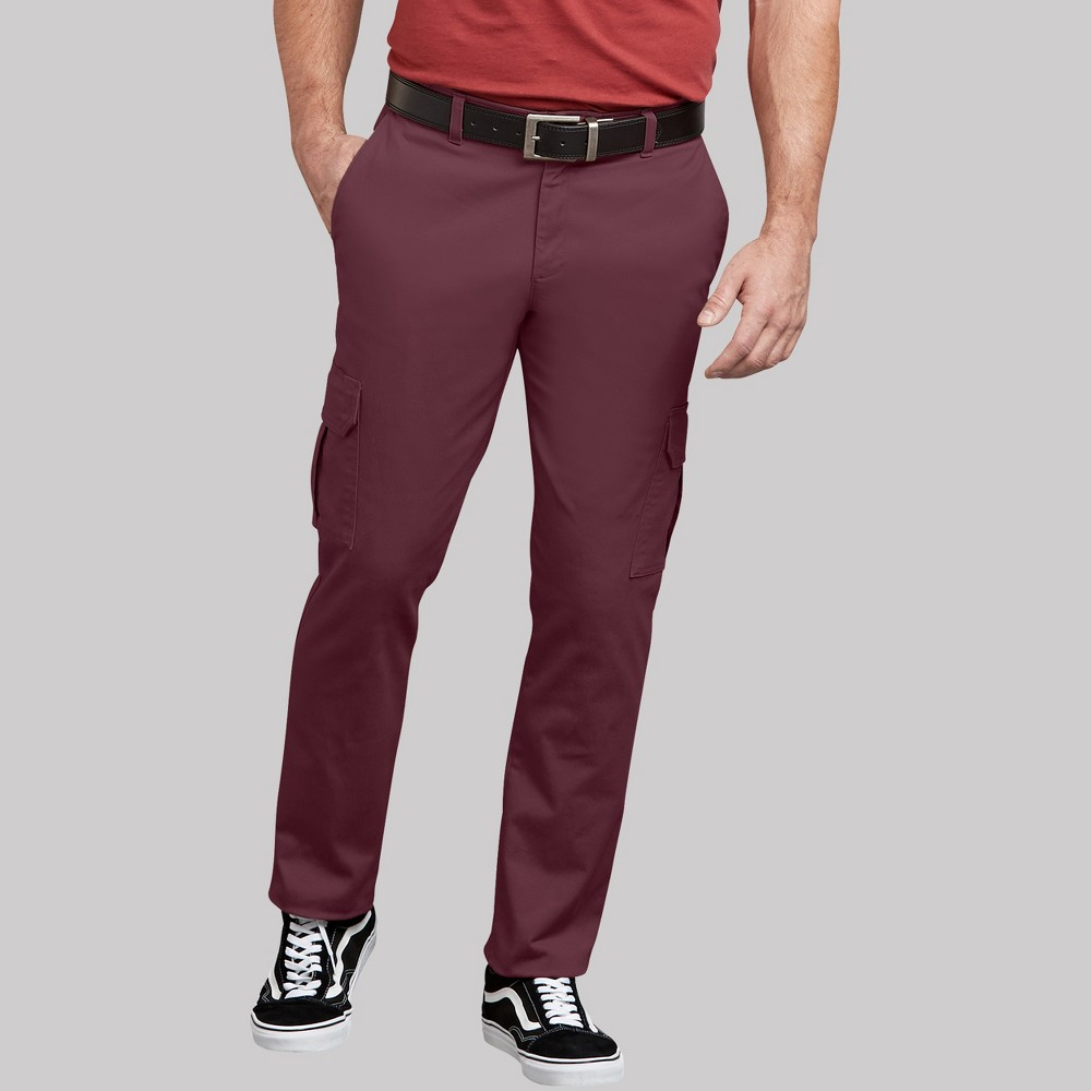 Dickies Men's Taper Trousers - Burgundy Heather 32x32