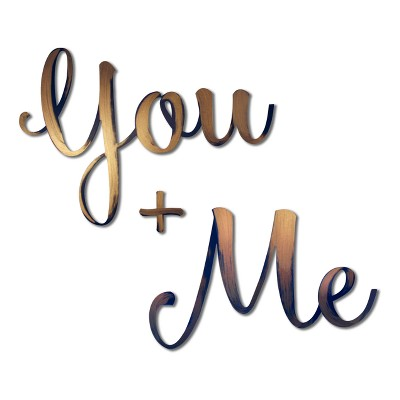 You and Me Bronze 43.3 x 15 x .25 - Letter2Word