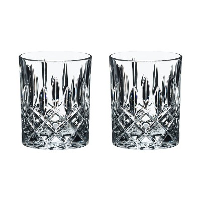 Riedel Spey Collection 10 Ounce Dishwasher Safe Crystal Scotch & Bourbon Cocktail Tumbler Whiskey Glasses (2 Pack)