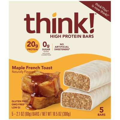 think! High Protein Maple French Toast Bars - 10.5oz/5pk