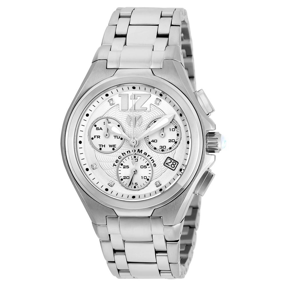 Men's Technomarine TM-215012 Manta Neo Classic Quartz Silver Dial Link Watch - Silver