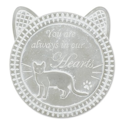 """Cement """"You Are Always in Our Hearts"""" Cat Memorial Stepping Stone Gray - Zingz & Thingz"""