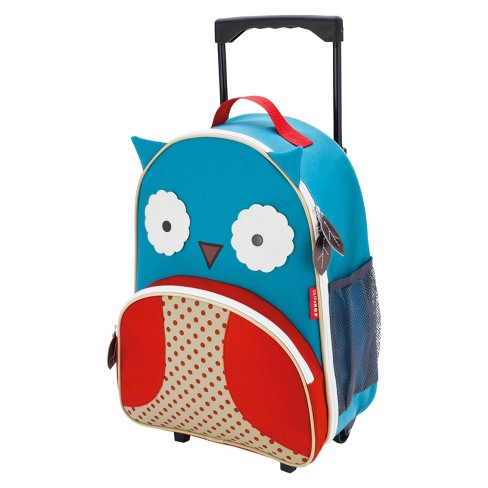 Skip Hop Zoo Little Kids & Toddler Rolling Travel Luggage, Owl - image 1 of 3