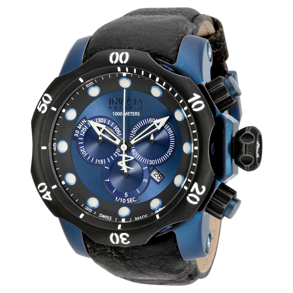 Men's Invicta 15988 Venom Quartz Chronograph Blue Dial Strap Watch - Blue