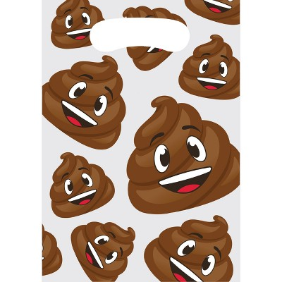 8ct Poop Emoji Favor Bags