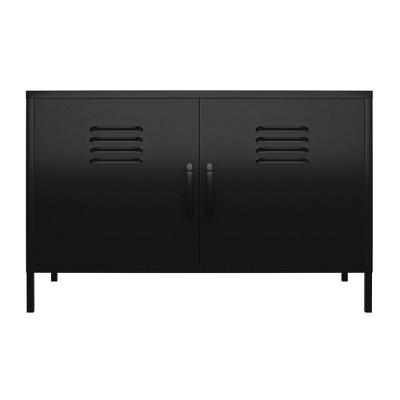 RealRooms Shadwick 2 Door Metal Locker Accent Cabinet
