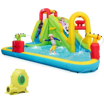 Costway Inflatable Water Slide Kids Bounce House w/480w Blower