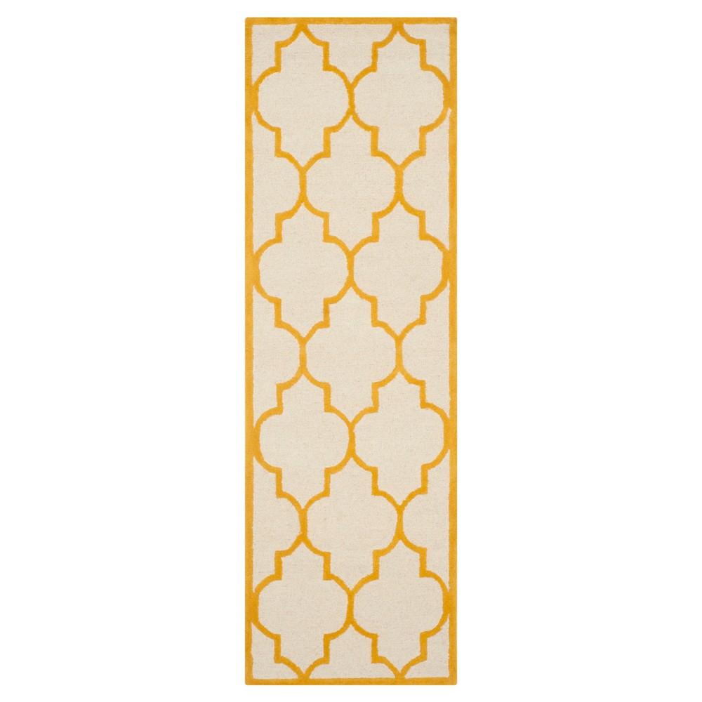 2 6 X8 Geometric Runner Ivory Gold Safavieh