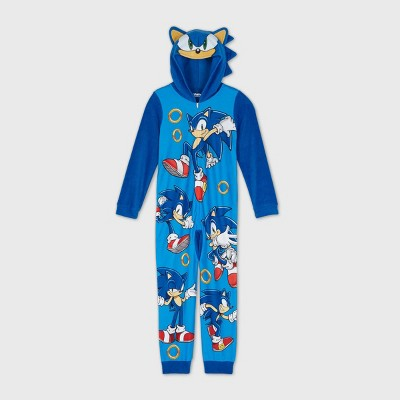 Boys' Sonic Blanket Sleeper Union Suit - Blue L