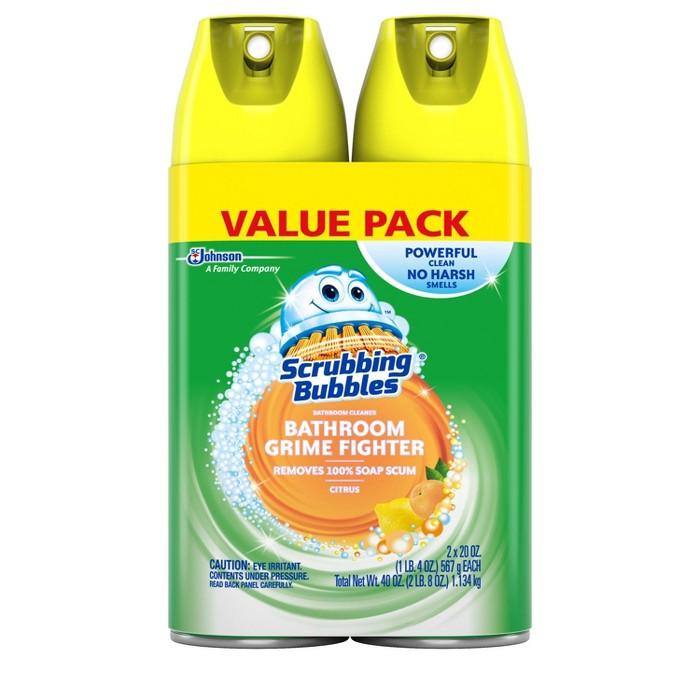 Scrubbing Bubbles Disinfectant Bathroom Cleaner, Fresh Citrus Scent, 20oz, 2ct - image 1 of 4