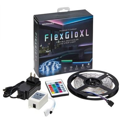 12' FLEXGLO XL Outdoor/Indoor LED Strip Light - Merkury Innovations