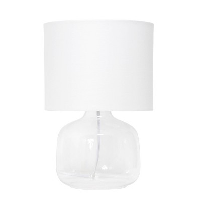 Glass Table Lamp with Fabric Shade Fresh White - Simple Designs